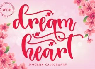 Dream Heart Calligraphy Font
