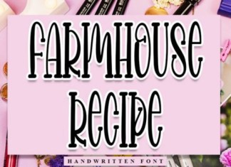 Farmhouse Recipe Display Font