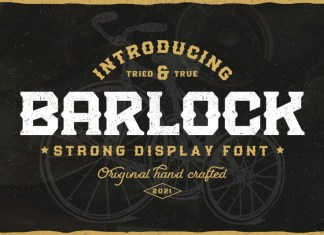 Barlock Display Font