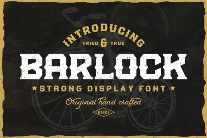 Barlock Display Font
