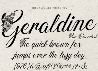 GERALDINE Script Font