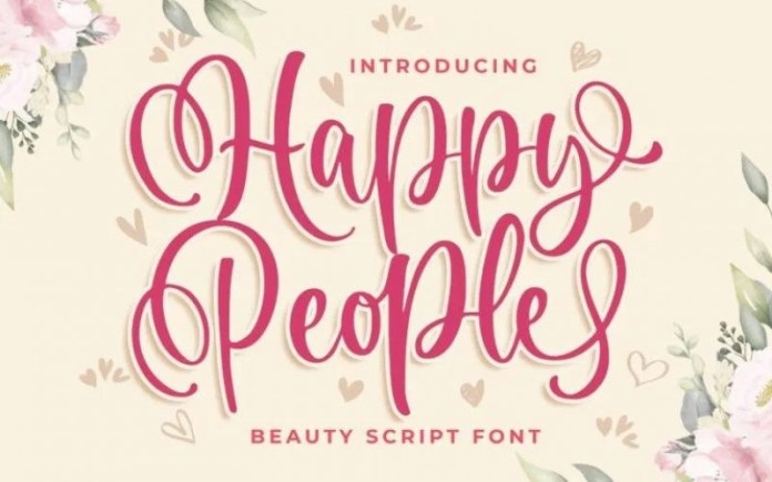 Happy People Calligraphy Font