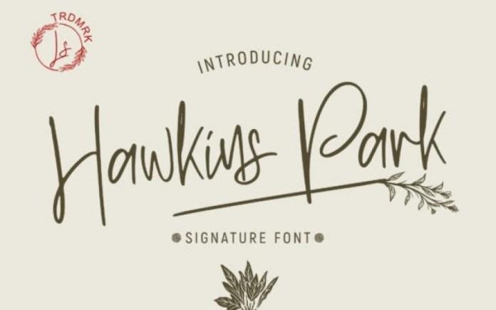 Hawkins Park Handwritten Font