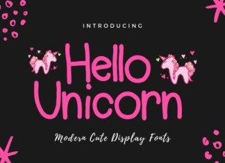 Hello Unicorn Handwritten Font