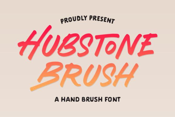 Hubstone Brush Font