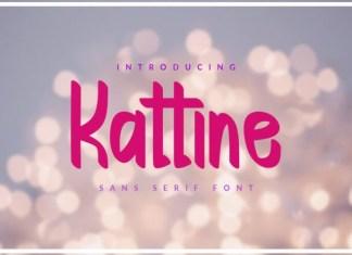 Kattine Display Font