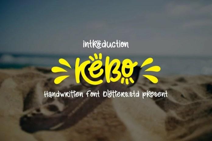 Kebo Display Font