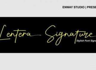 Lentera Signature Script Font