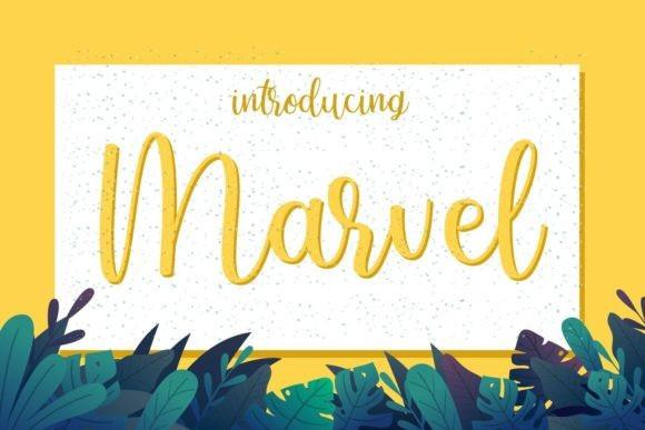 Marvel Script Font