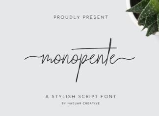 Monopente Handwritten Font