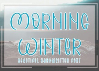 Morning Winter Display Font