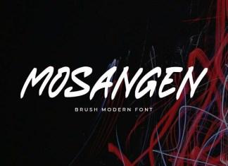 Mosangen Brush Font