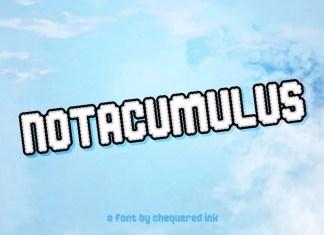 Notacumulus Display Font