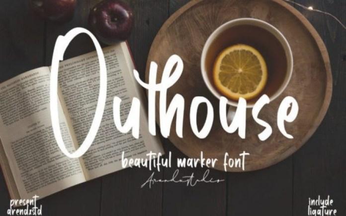 Outhouse Script Font