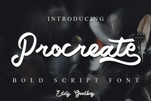 Procreate Script Font