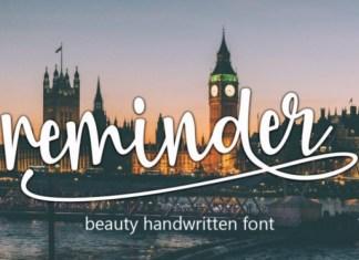 Reminder Calligraphy Font