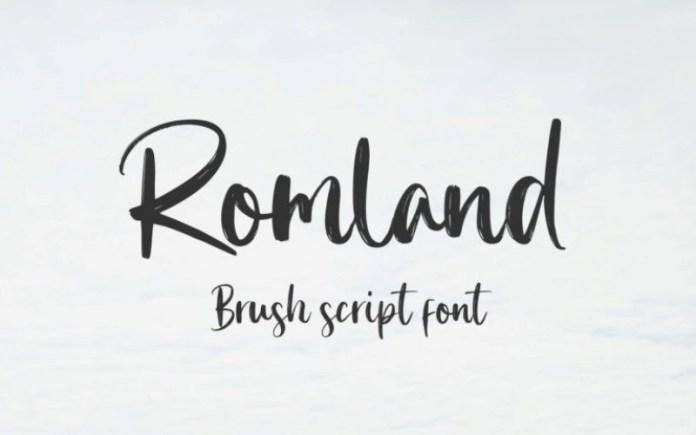 Romland Brush Font