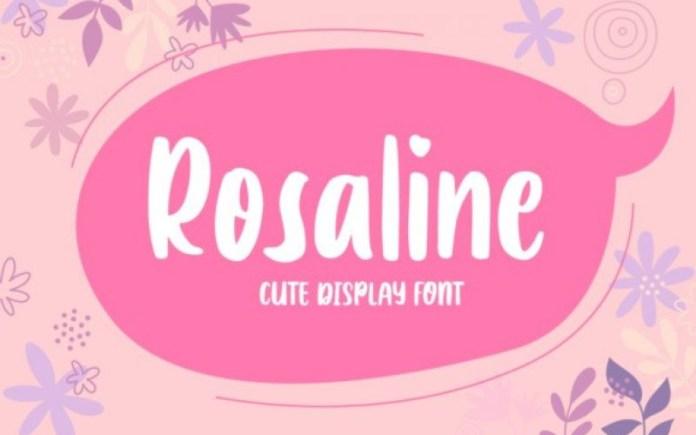 Rosaline Display Font