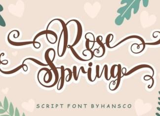 Rose Spring Script Font
