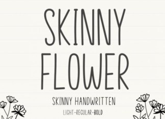 Skinny Flower Display Font