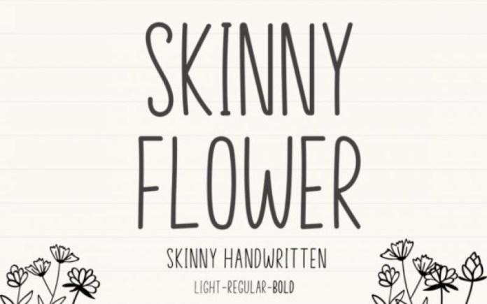 Skinny Flower Display Font