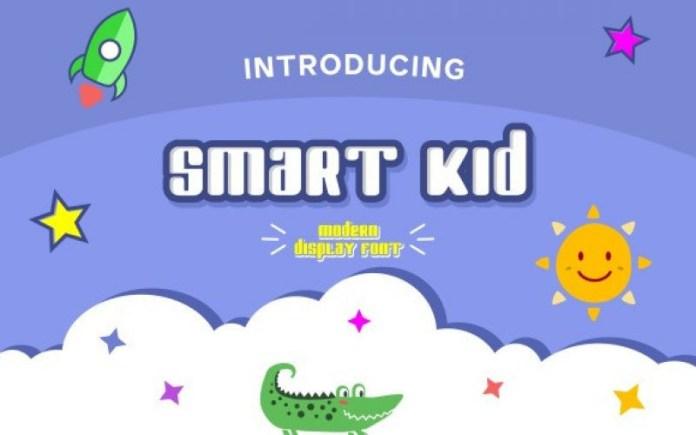 Smart Kid Display Font