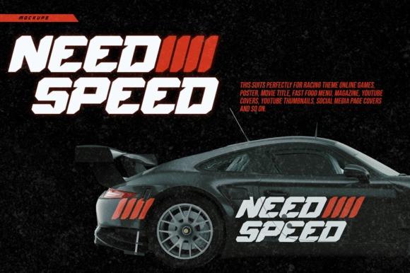 Speed Rush Display Font