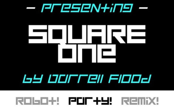 Square One Display Font