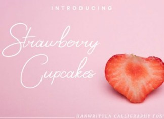 Strawberry Cupcakes Handwritten Font