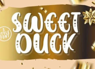 SWEET DUCK Display Font