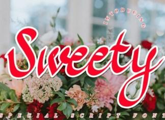 Sweety Script Font