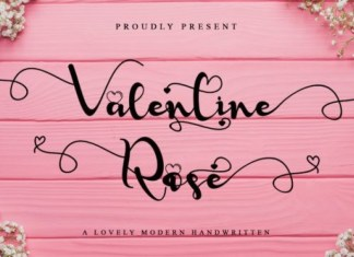 Valentine Rose Calligraphy Font