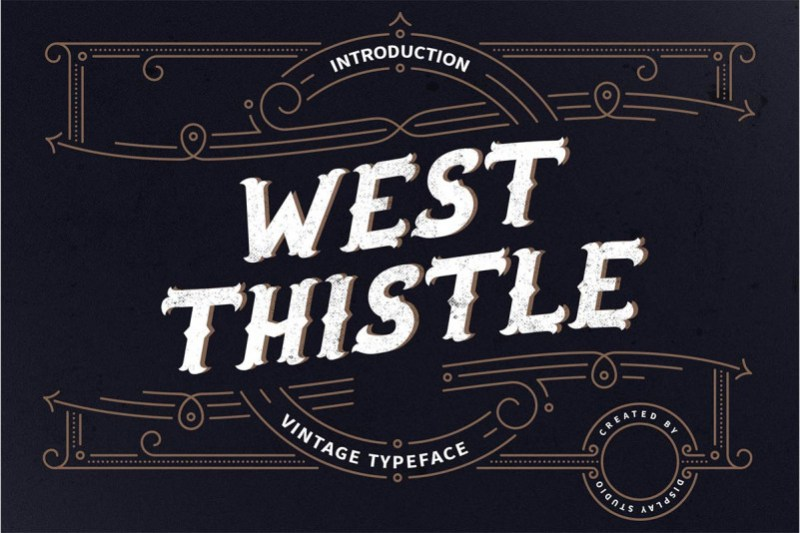 West Thistle Display Font