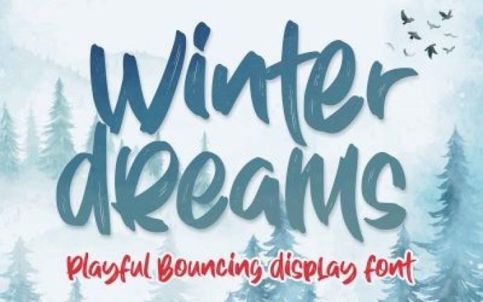 Winter Dreams Brush Font