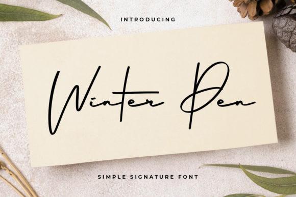 Winter Pen Handwritten Font