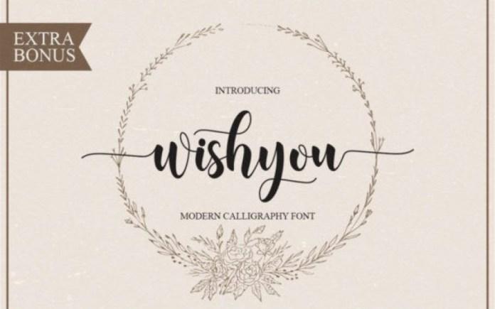Wishyou Calligraphy Font