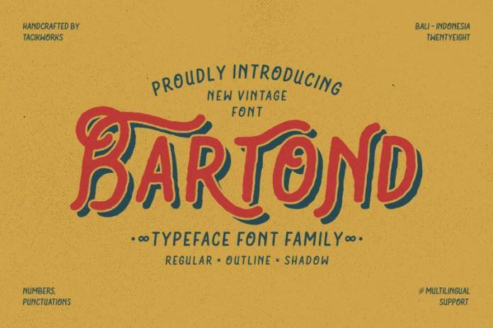 Bartond Display Font