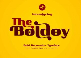 Boldoy Sans Serif Font