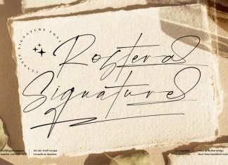Rostera Signature Script Font
