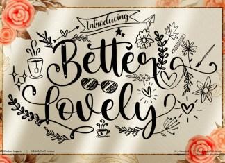 Better Lovely Calligraphy Font