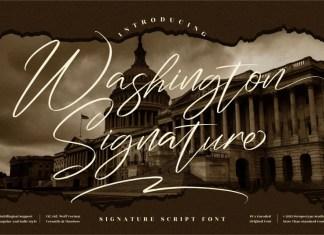Washington Signature Script Font