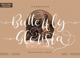 Butterfly Glorista Script Font