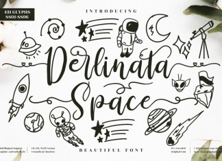Derlinata Space Script Font