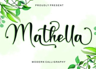 Mathella Calligraphy Font