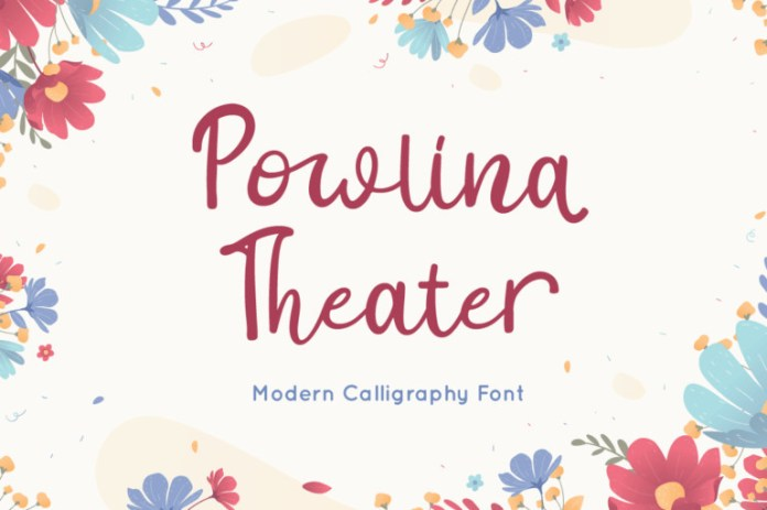Powlina Theater Script Font