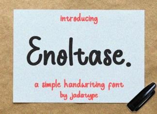 Enoltase Handwritten Font