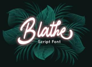 Blathe Script Font