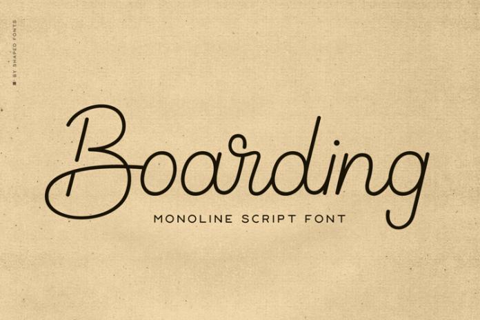 Boarding Handwritten Font