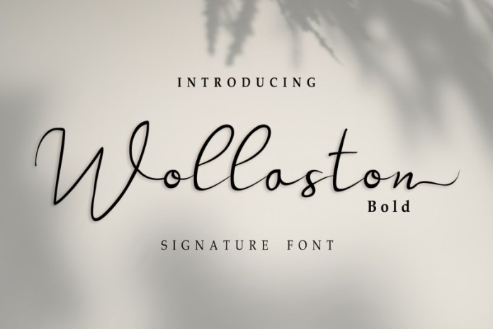 Wollaston Bold Script Font