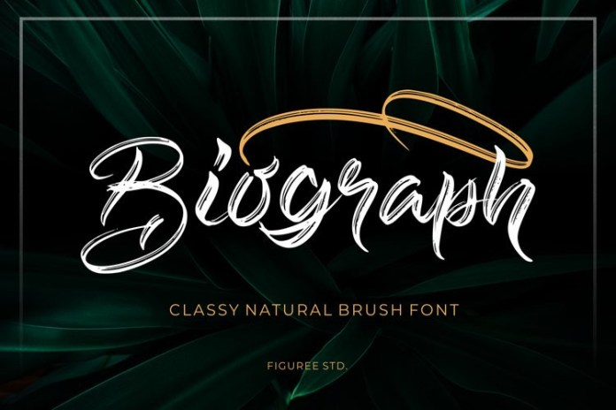 Biograph Brush Font